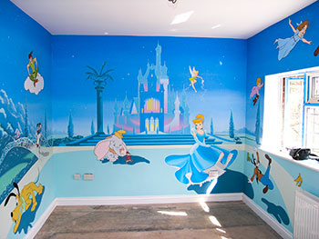 Mural gallery sacredart murals for Cinderella castle wall mural