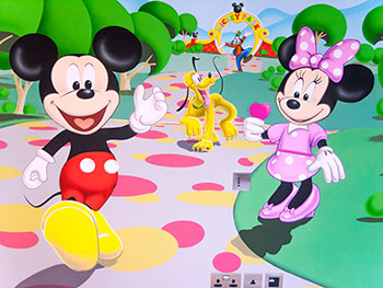mickey's clubhouse mickey mouse mural